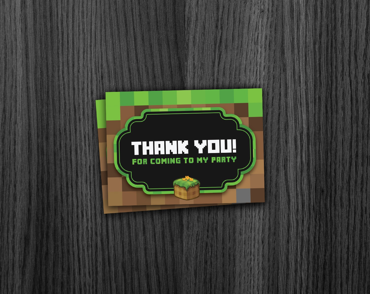 Minecraft Thank You Cards - Free Printable Minecraft Thank You Notes