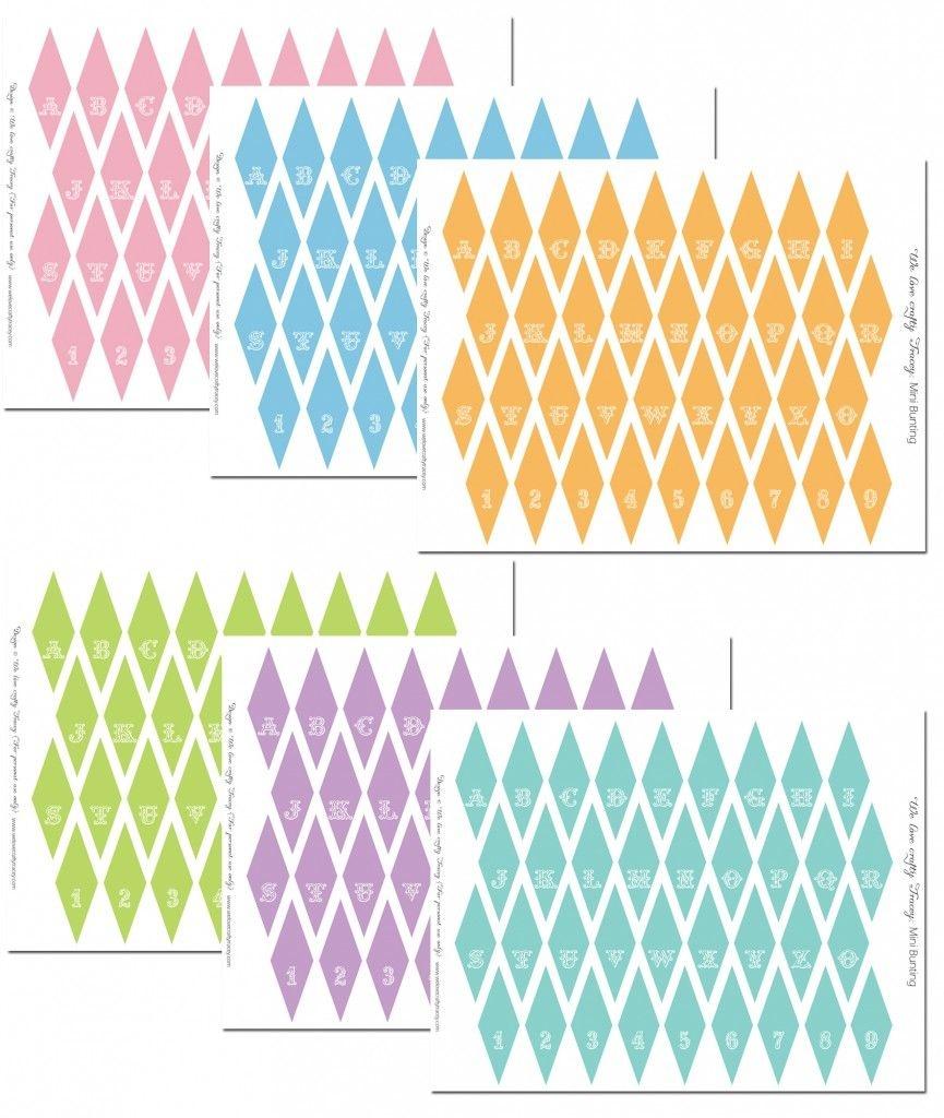 Mini Bunting Free Printables | Party Ideas | Cake Bunting, Cake - Free Printable Cake Bunting Template