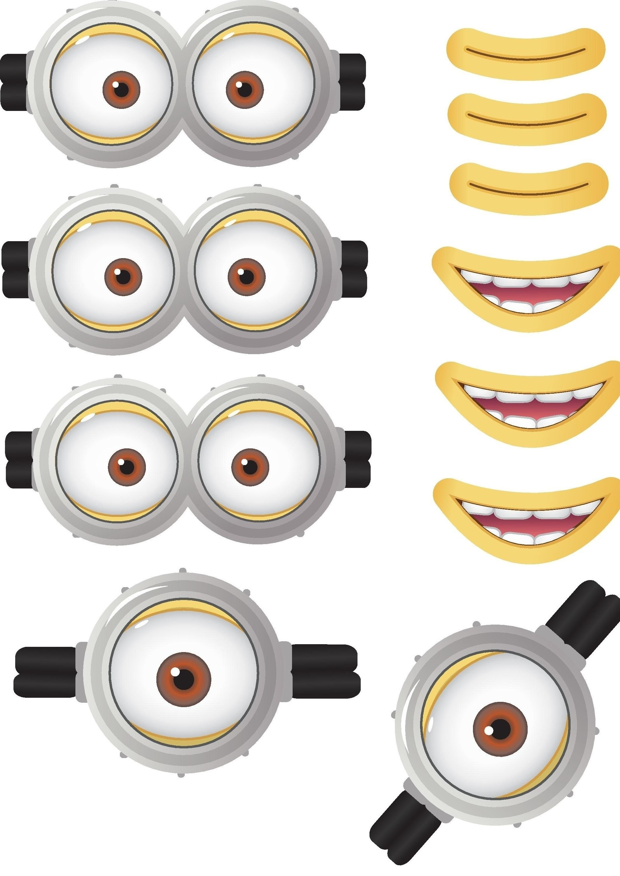 Minion Goggles Mouths Free Printable Despicable Me 2 Picture | Party - Free Minion Printables