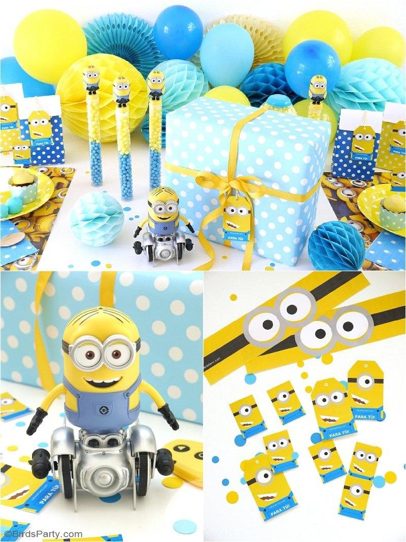 Minion Inspired Birthday Party Ideas & Free Printables - Party Ideas - Minion Party Ideas Free Printables