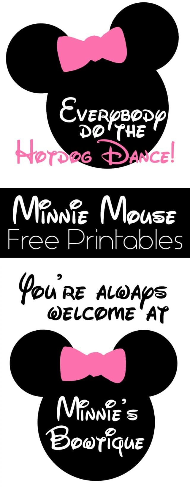 Minnie Mouse Birthday Party Details And Free Printables - Girl Loves - Free Minnie Mouse Printables