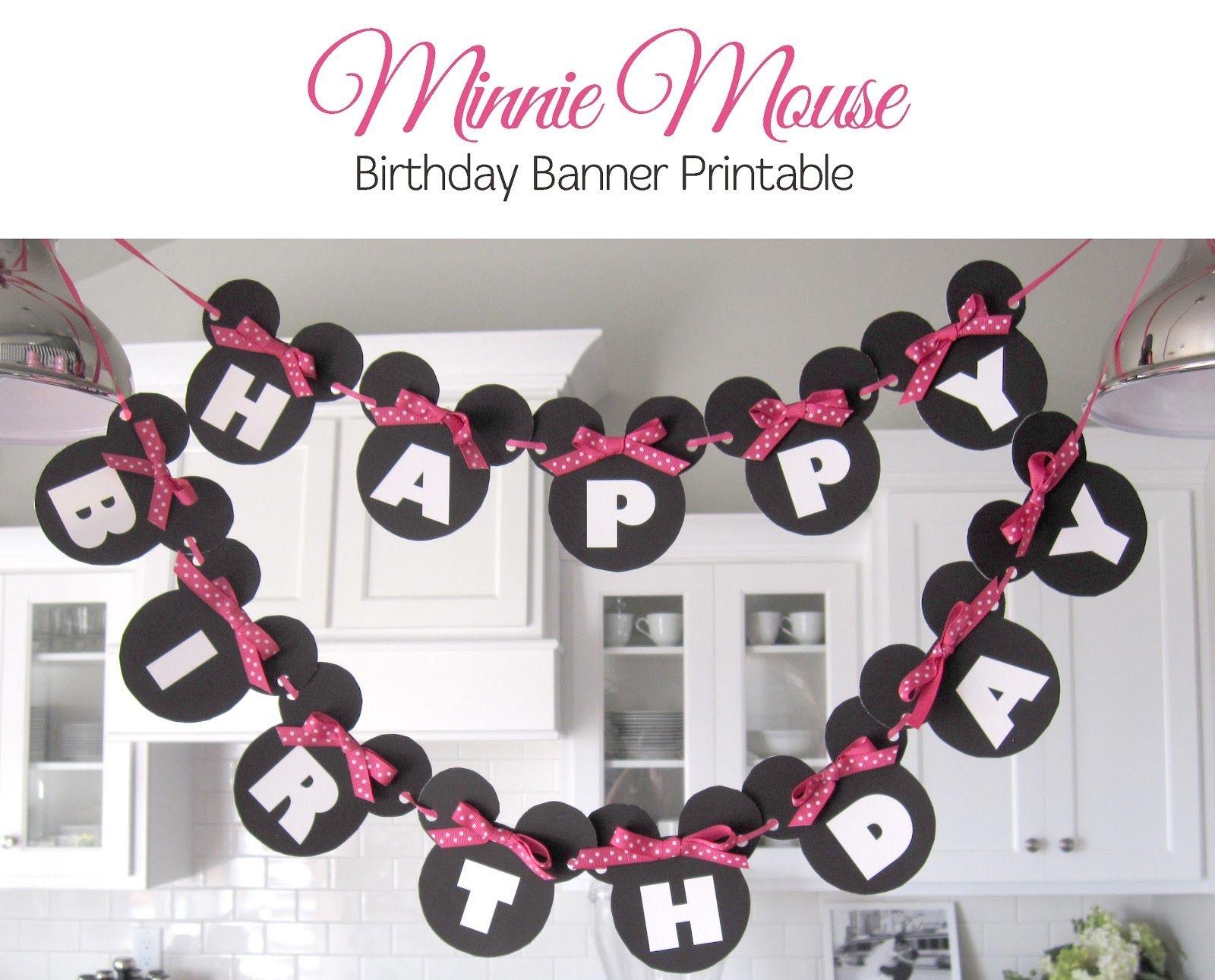 Minnie Mouse Free Printables | Sugar Fresh: Lily's Minnie Mouse - Free Printable Mickey Mouse Birthday Banner