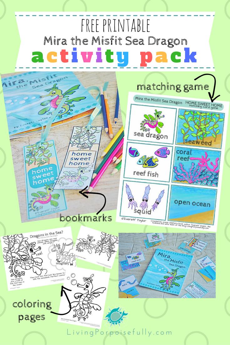 Mira, The Misfit Sea Dragon Printable Activity Pack (Free!) – Living - Free Printable Dragon Bookmarks