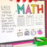 Miss Giraffe's Class: Diy Classroom Decor Bulletin Board Letters   Free Printable Bulletin Board Letters