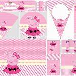 Miss Peppa Pig: Free Printable Birthday Party Mini Kit.   Oh My   Peppa Pig Free Printables