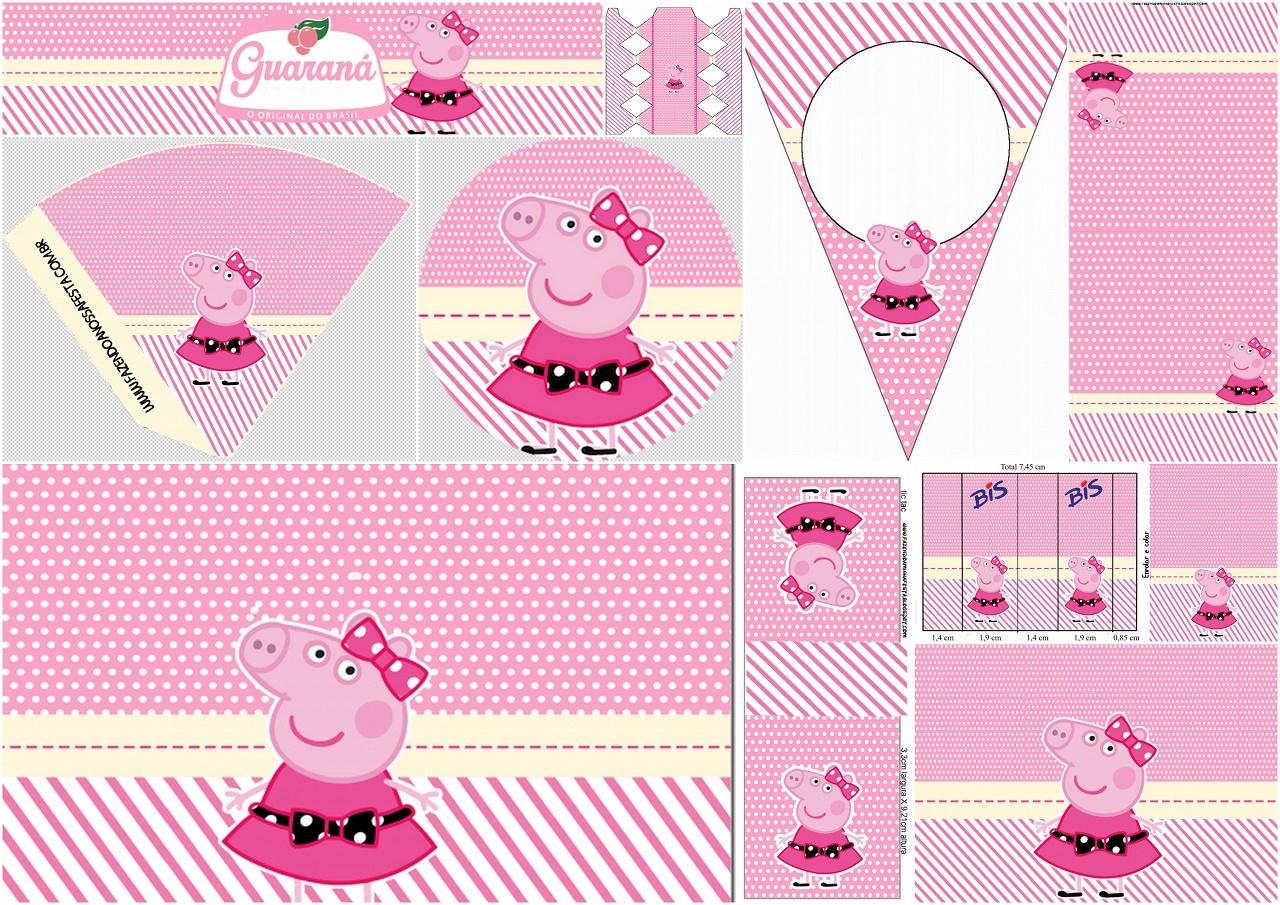 Miss Peppa Pig: Free Printable Birthday Party Mini Kit. - Oh My - Peppa Pig Free Printables