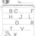 Missing Letter Worksheets (Free Printables)   Doozy Moo   Learning To Write Letters Free Printables