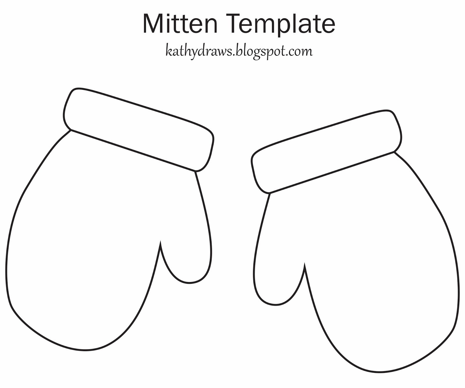 Mittens Template. Printable Mitten Template Mitten Pattern - Free Mitten Template Printable