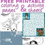 Moana Coloring Pages And Activity Sheets   Over 30 Free Disney   Free Disney Activity Printables
