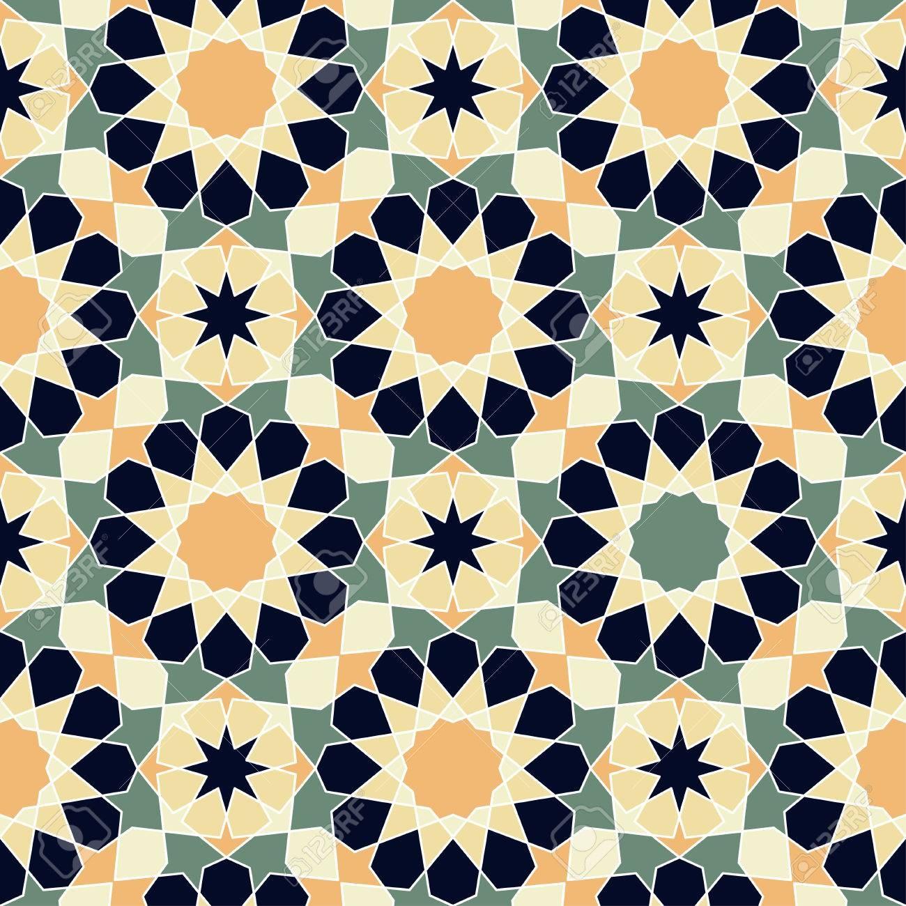 Modern Line Vector Traditional Arabic Pattern Background Design - Free Printable Background Designs
