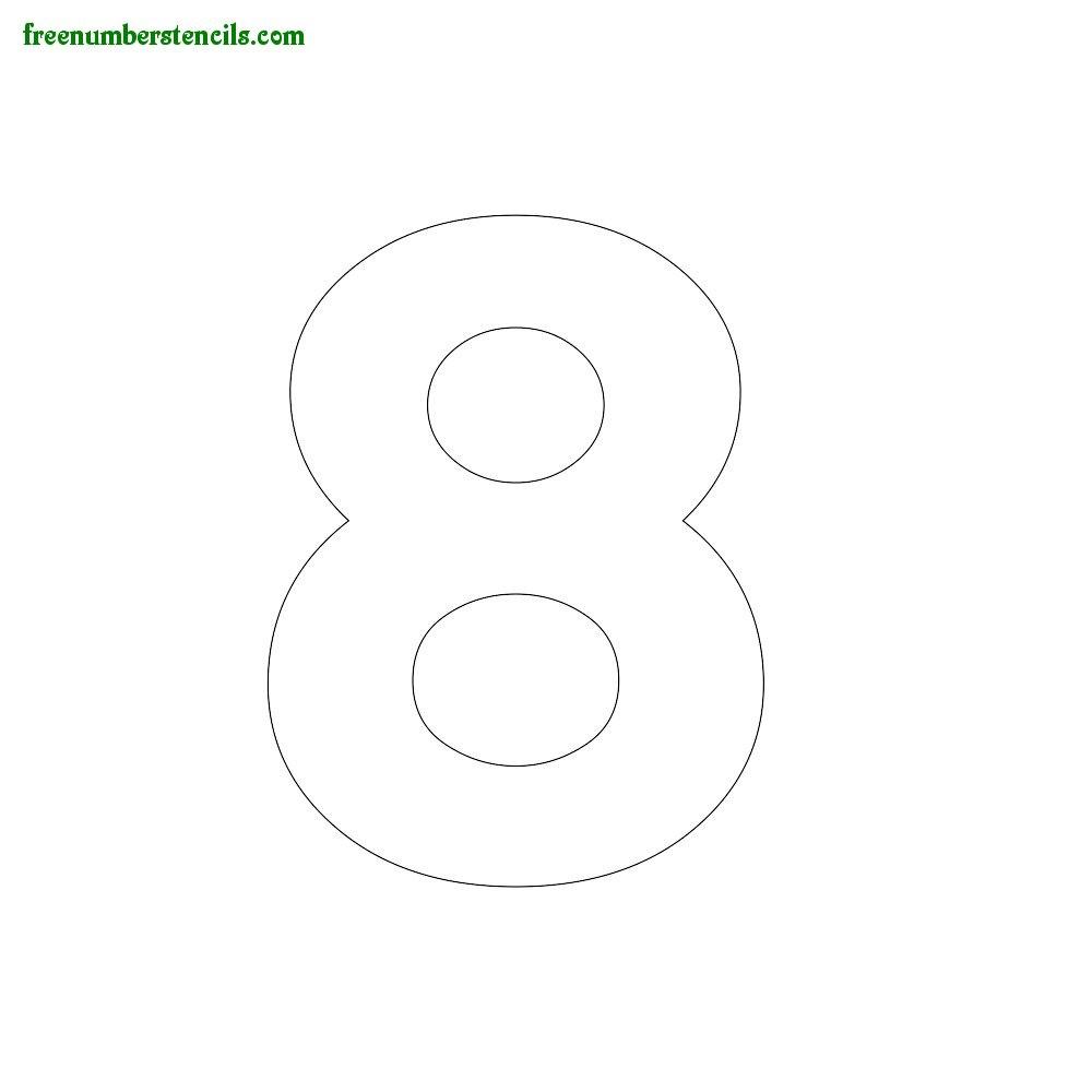 Modern Number Stencils Online Printable - Freenumberstencils - Free Printable 3 Inch Number Stencils