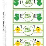 Mom Bucks For Kids. Kids Earn Mom Bucks From Doing Chores. | Misc   Free Printable Chore Bucks