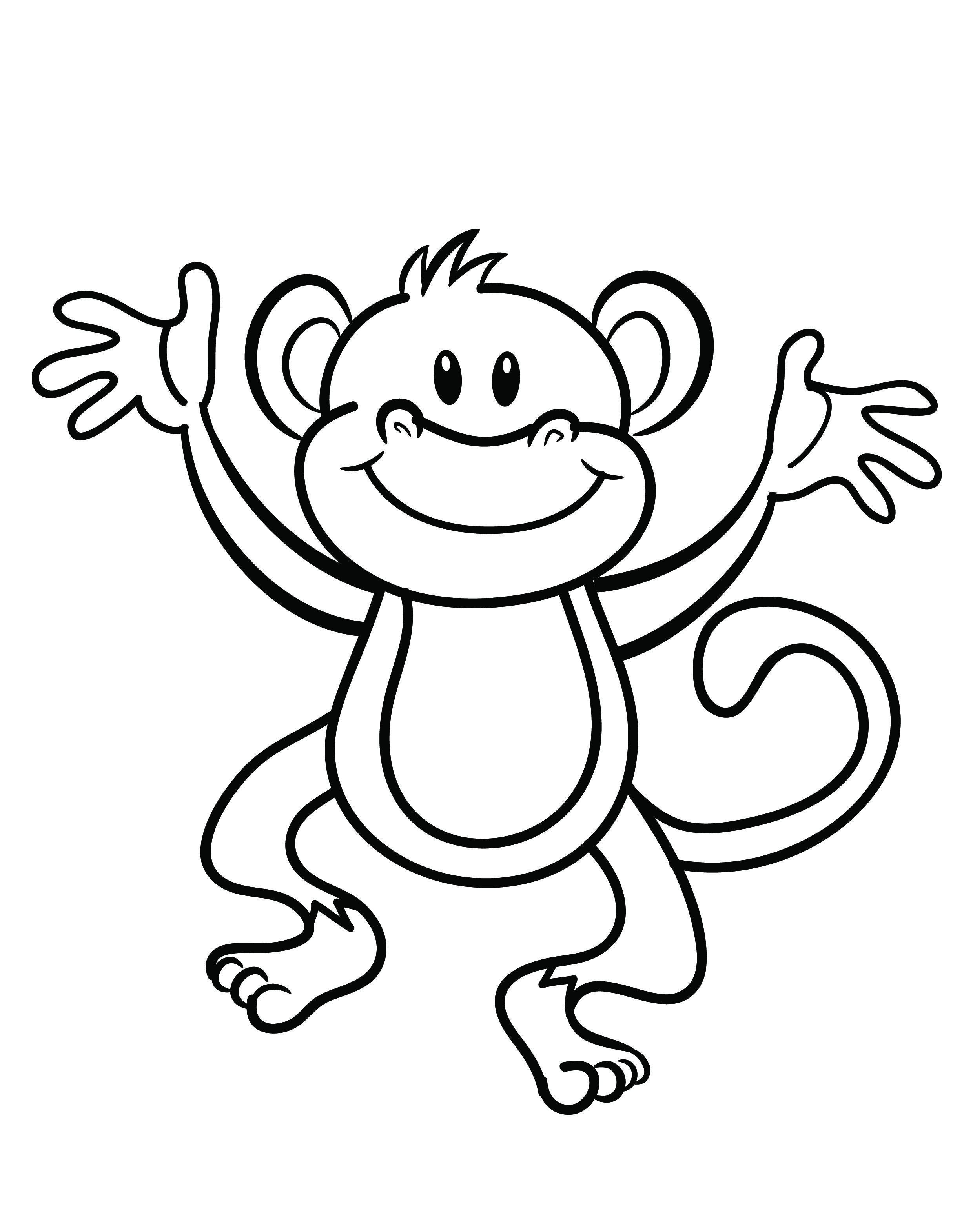 Monkey Coloring | Coloring Page | Monkey Coloring Pages, Monkey - Free Printable Monkey Coloring Pages