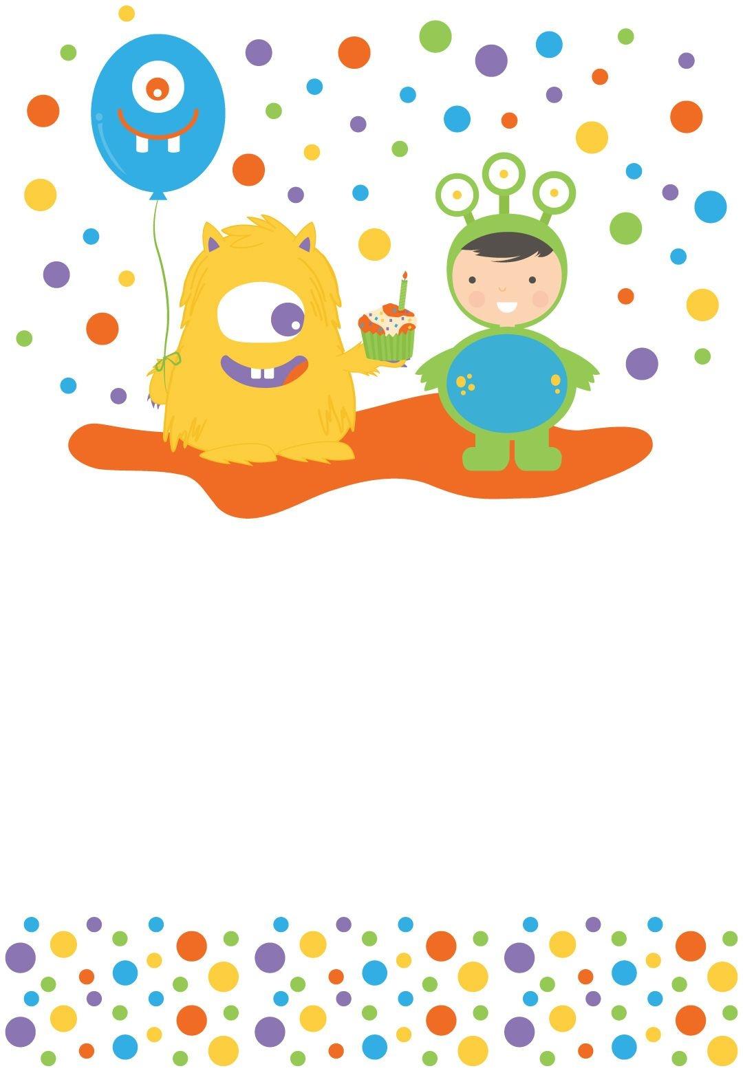 Monster Bash - Free Printable Birthday Invitation Template - Free Printable Monster Templates