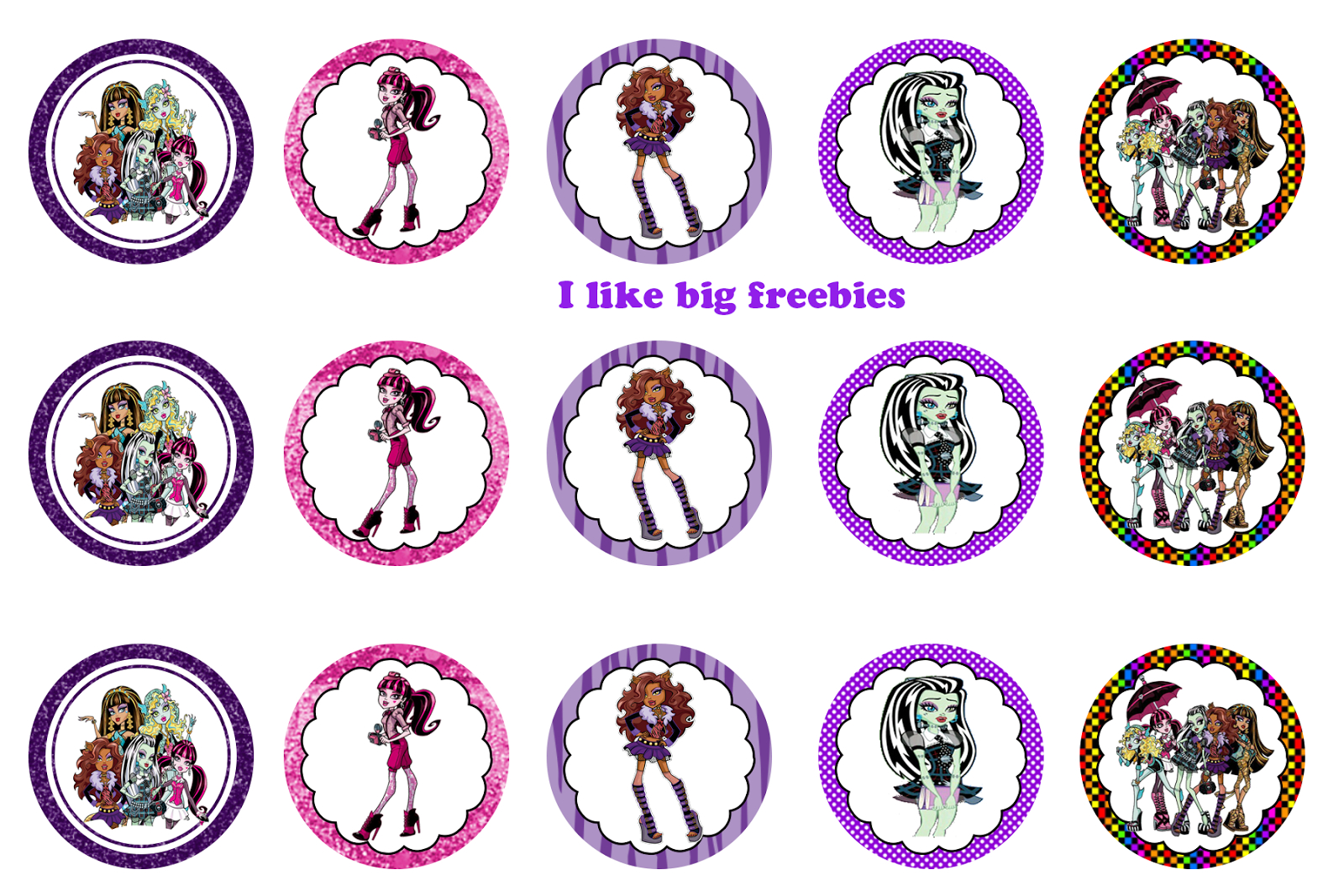 Monster High Free Printables | Free Printable Monster High Cupcake - Monster High Cupcake Toppers Printable Free