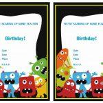 Monsters University Birthday Invitations | Birthday Printable   Free Printable Monsters Inc Birthday Invitations