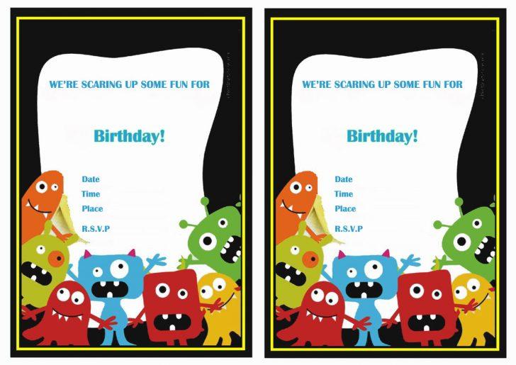 Free Printable Monsters Inc Birthday Invitations