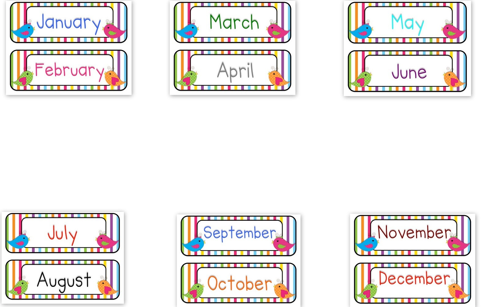 Months Of The Year Clipart & Look At Clip Art Images - Clipartlook - Free Printable Months Of The Year