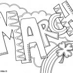 Months Of The Year Coloring Pages   Classroom Doodles   Free Printable Coloring Pages For March