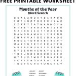 Months Of The Year Word Search Free Printable For Kids   Craftpress   Free Printable Months Of The Year