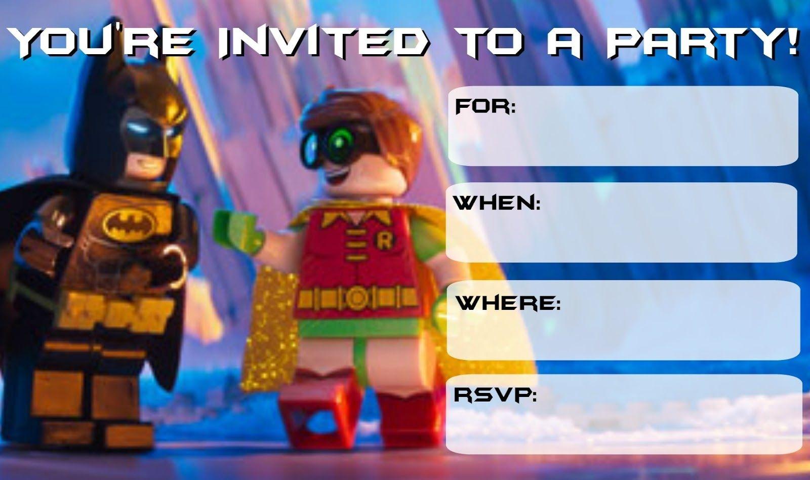 More Lego Batman Party Invitations | Drew's Birthday | Lego Batman - Lego Batman Invitations Free Printable