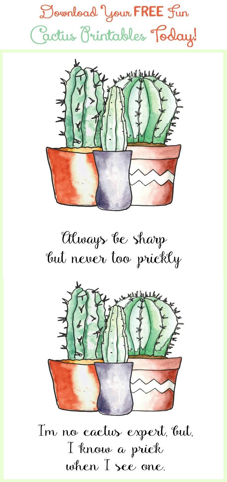 More Printables! Download Your Free Fun Cactus Printables Today! - Free Cactus Printable