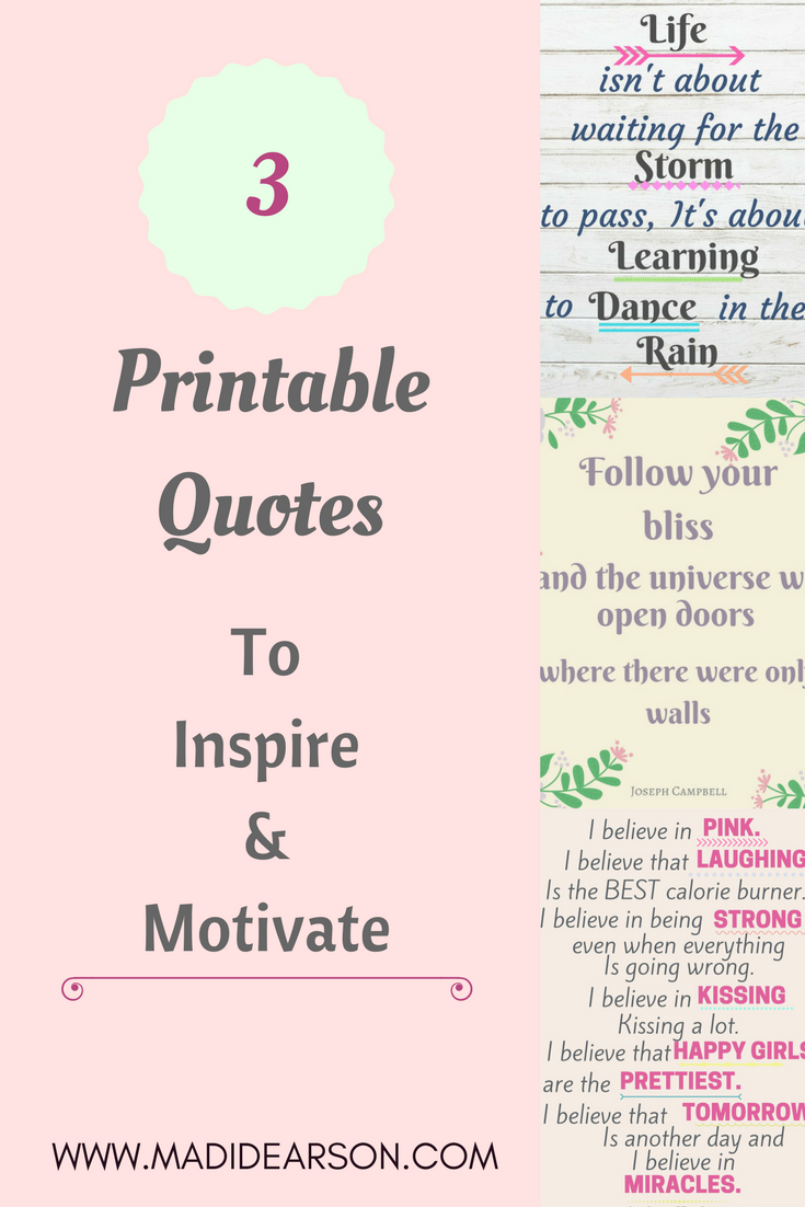 More Than Words - 3 (Printable) Motivational Quotes | Free Printable - Free Printable Quotes Pdf