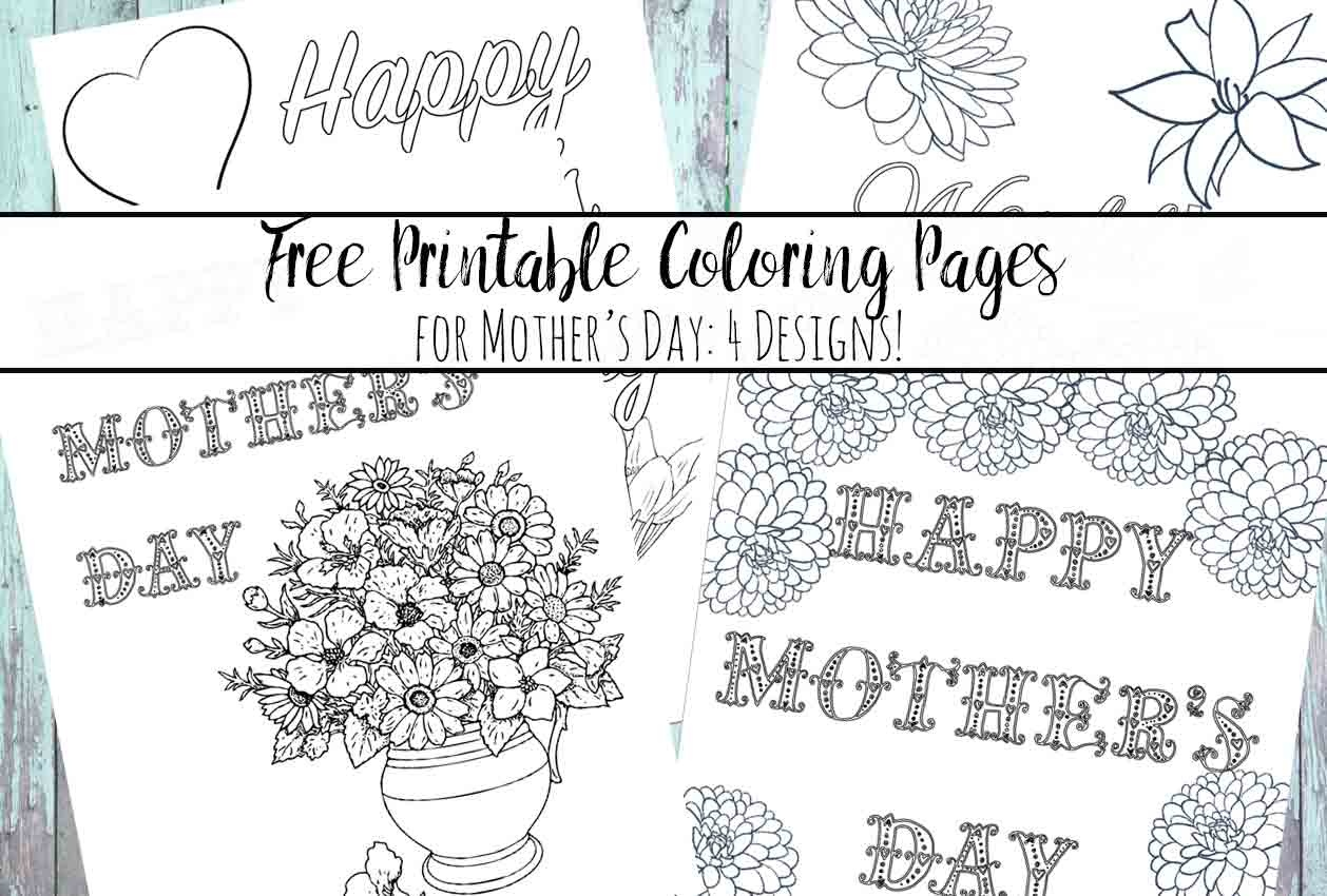 Mother S Day Coloring Page - Free Printable Mother S Day Coloring - Free Mother's Day Printables