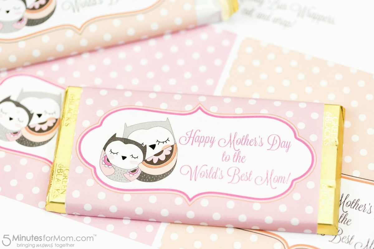 Mother's Day Candy Bar Wrapper Free Printable - Free Candy Wrapper Printable
