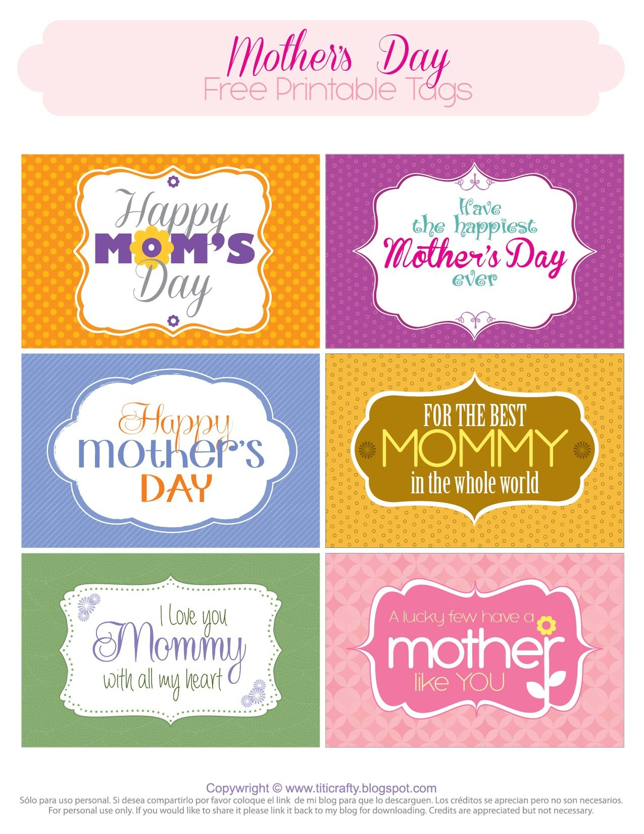 Mother's Day Free Printable Tags   *{Tcn} Freebies   Mothers Day - Free Printable Mother's Day Games For Adults