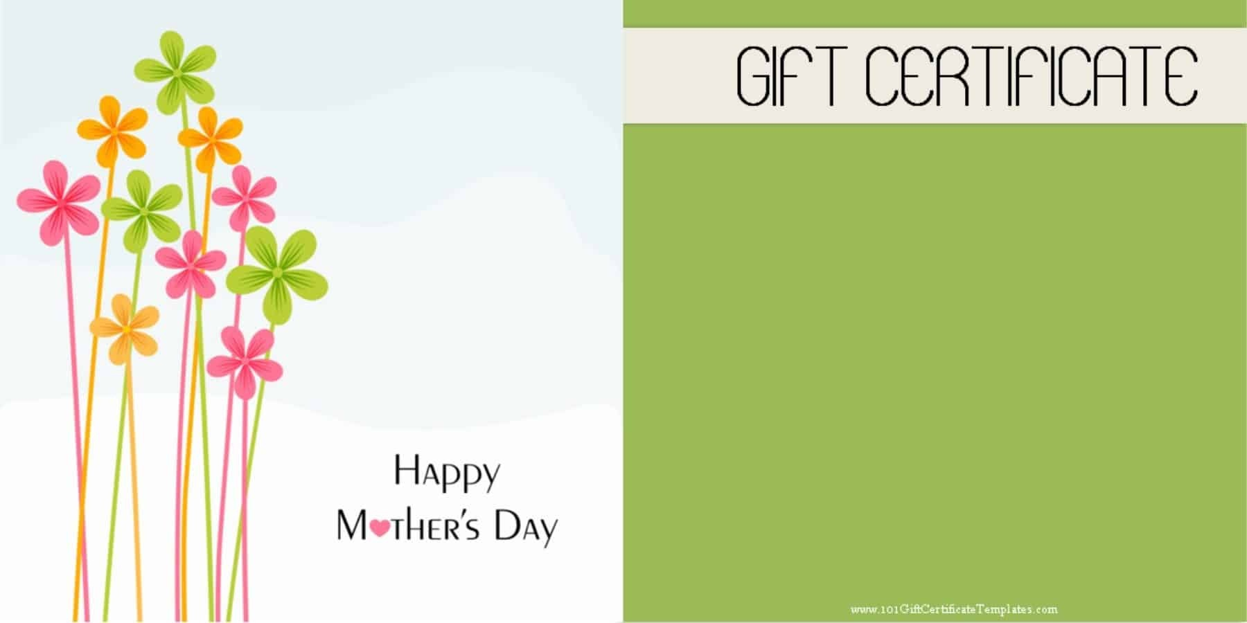 Mother's Day Gift Certificate Templates - Free Printable Pedicure Gift Certificate