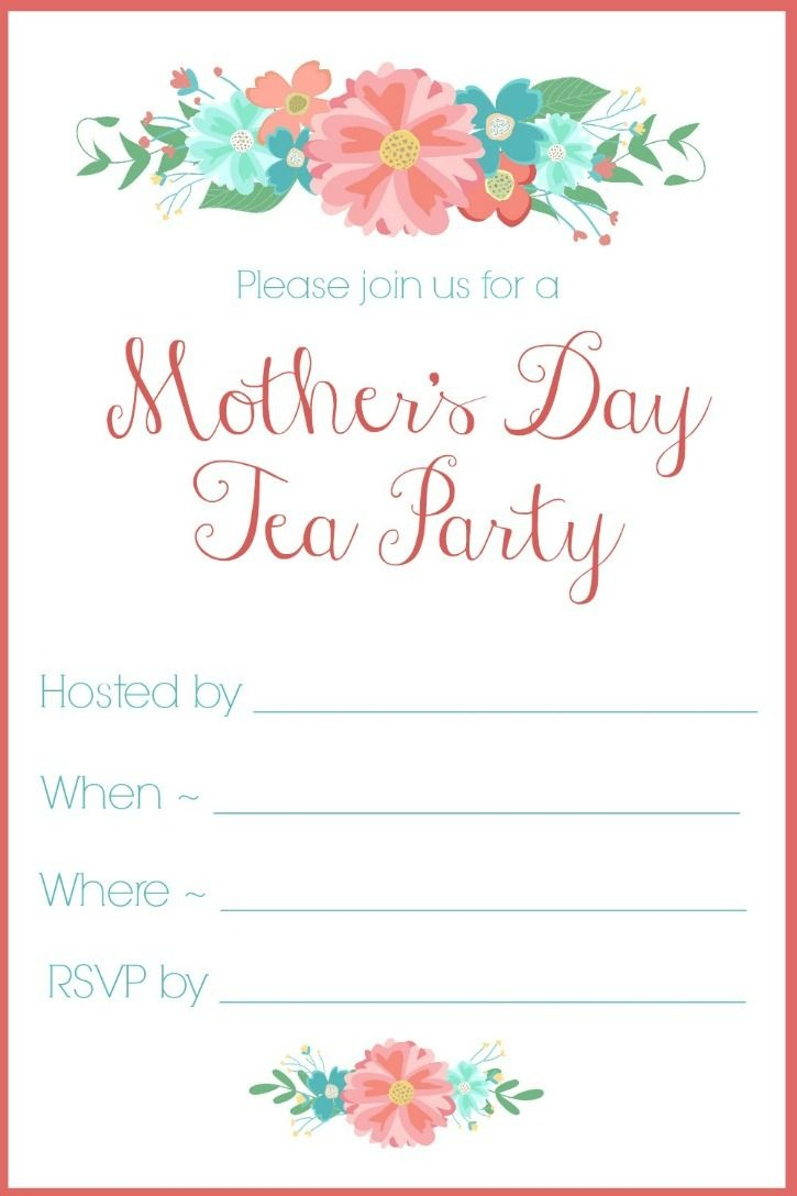 Mother's Day Tea Party Invitation {Free Printables} | Spring Home - Free Printable Vintage Tea Party Invitations