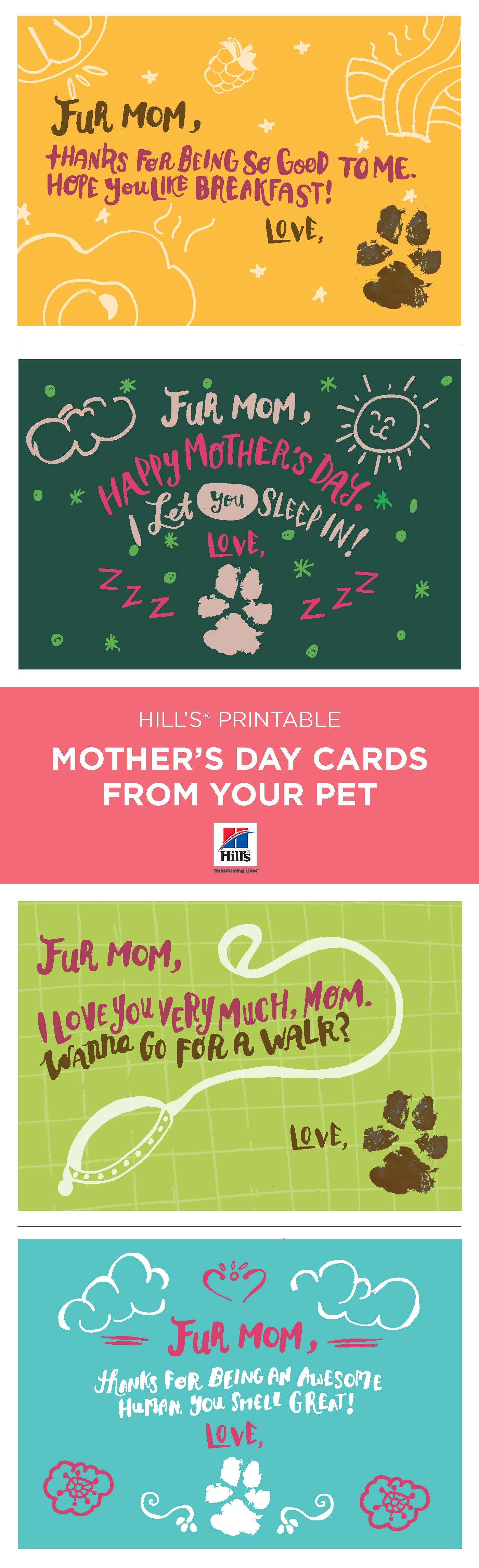 Mother's Day | Things We Love | Dog Mom, Mothers Day Cards, Dogs - Free Printable Mothers Day Card From Dog