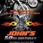 Motorcycle Invitation Printable File Diy   Bike Birthday Invitation   Free Printable Harley Davidson Birthday Invitations