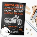 Motorcycle Invite Motorcycle Birthday Motorcycle Party | Etsy   Free Printable Harley Davidson Birthday Invitations
