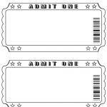 Movie Ticket Template Printable   Tutlin.psstech.co   Free Printable Admission Ticket Template