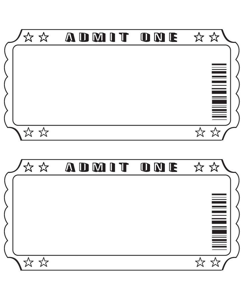 Movie Ticket Template Printable - Tutlin.psstech.co - Free Printable Admission Ticket Template