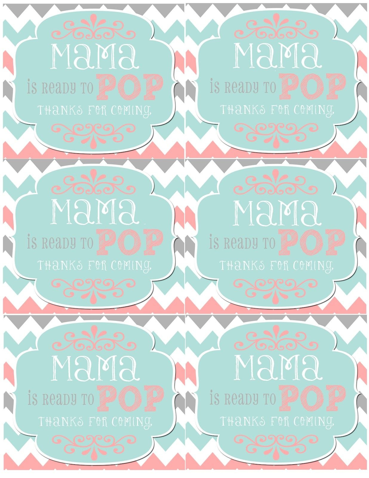 Mrs. This And That: Baby Shower, Banner, Free Downloads Yipee - Free Printable Ready To Pop Popcorn Labels