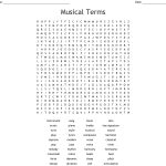 Musical Terms Word Search   Wordmint   Free Printable Music Word Searches