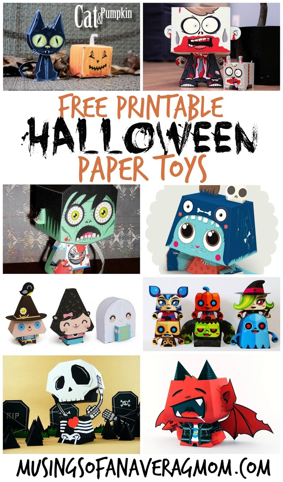 Musings Of An Average Mom: Halloween Paper Crafts - Free Printable Halloween Paper Crafts