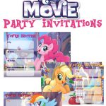 Musings Of An Average Mom: My Little Pony Movie Invitations   Free My Little Pony Party Printables
