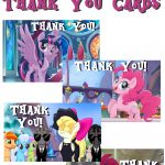 Musings Of An Average Mom: My Little Pony Movie Thank You Cards   Free Printable My Little Pony Thank You Cards