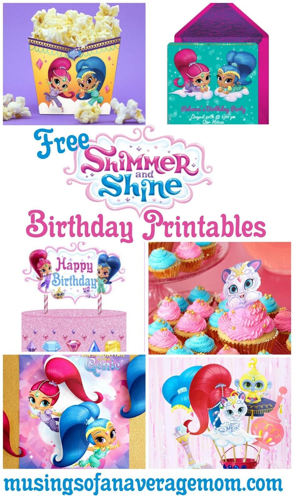 Musings Of An Average Mom: Shimmer And Shine Birthday Party - Shimmer And Shine Free Printables