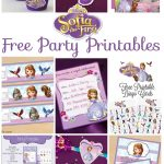 Musings Of An Average Mom: Sofia The First   Party Printables   Sofia The First Cupcake Toppers Free Printable
