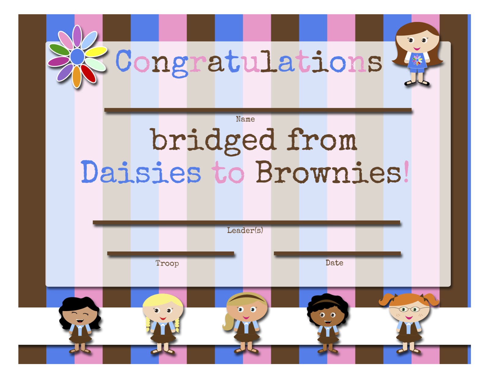 My Fashionable Designs: Girl Scouts: Free Printable Bridging - Daisy Girl Scout Certificates Printable Free