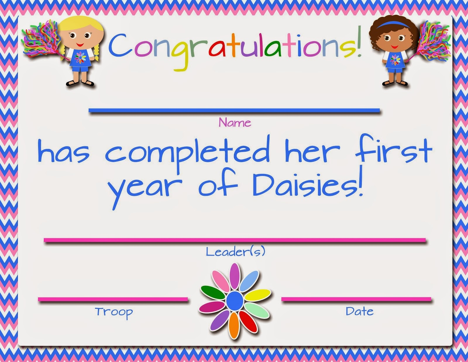 My Fashionable Designs: Girl Scouts: Free Printable First/second - Daisy Girl Scout Certificates Printable Free