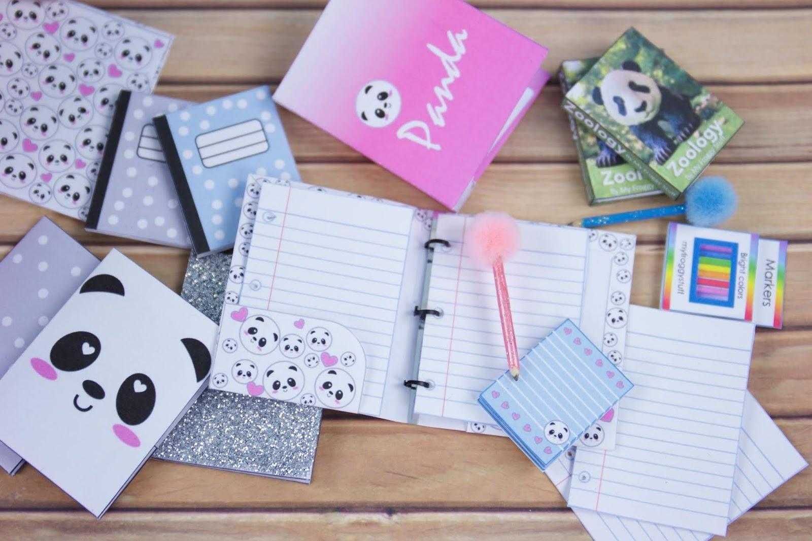 My Froggy Stuff: Back To School : Diy Panda School Supplies Free - Myfroggystuff Blogspot Free Printables