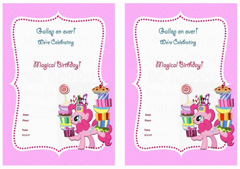 My Little Pony Birthday Invitations | Birthday Printable - Free My Little Pony Party Printables