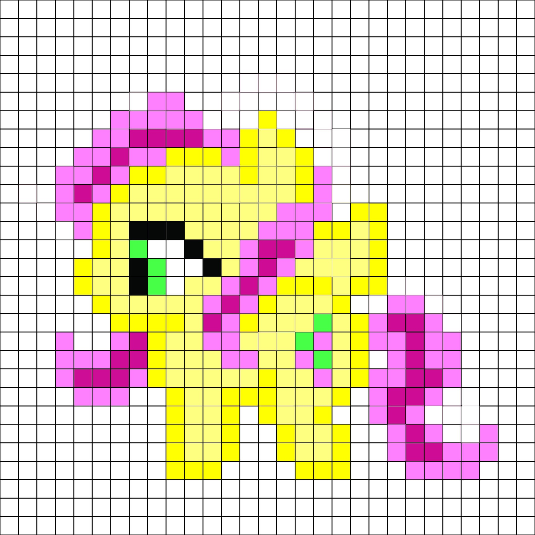 My Little Pony - Flutter Shy Pattern -Me For A Free And Better - Pony Bead Patterns Free Printable