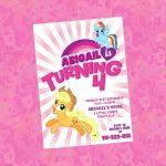 My Little Pony Invitation My Little Pony Birthday Invitation | Etsy   Free Printable My Little Pony Thank You Cards